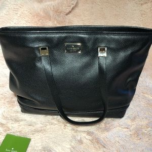Kate Spade ♠️ black 100% cow leather tote bag